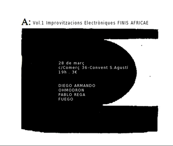 Finis Africae presenta: Pablo Rega + Fuego + Ohmodron